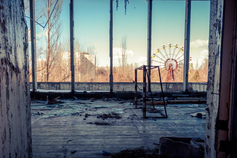 Widok z okna w Czarnobylu