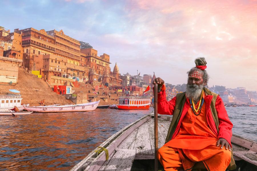 Sadu Waranasi Indie Ganges